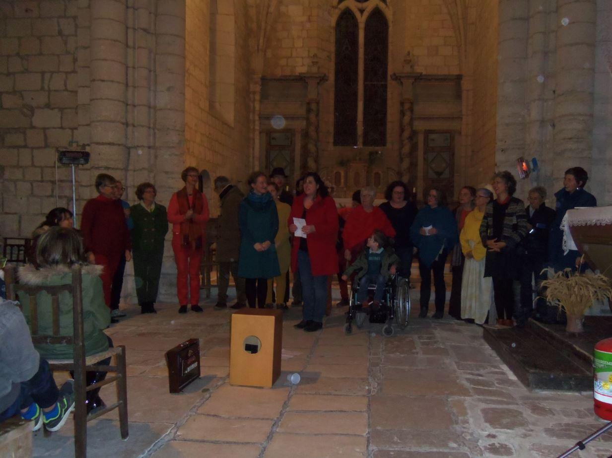 Concert de la chorale de Peter à Saint-Saturnin-du-Bois
