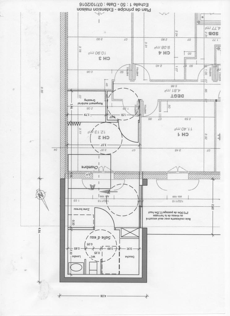 Plan de la future chambre de Lucas
