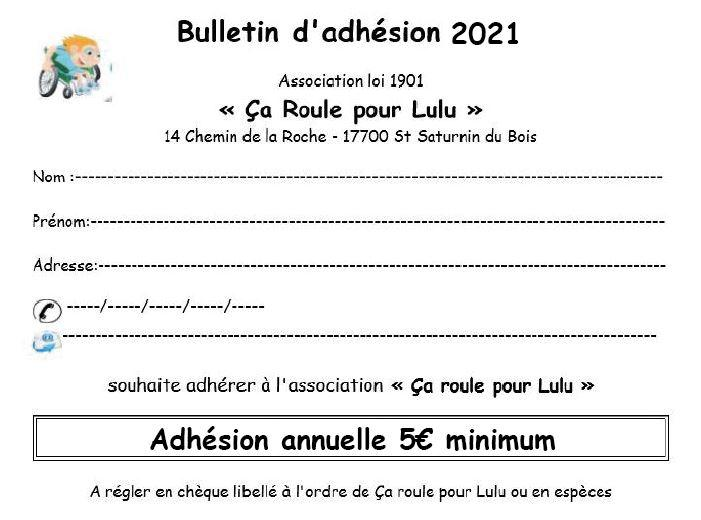 Bulletin adhesion 2021